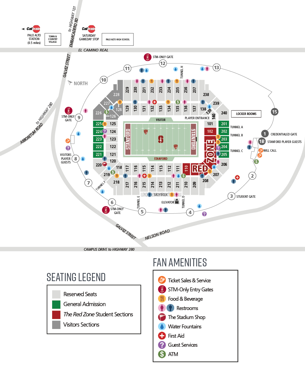 Stanford Zip Code Map.Stanford Stadium Facilities Stanford University