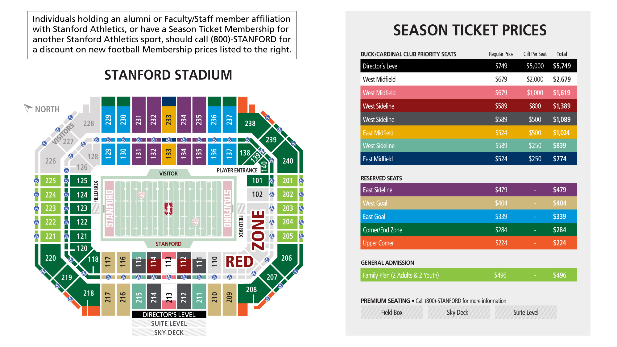 Stanford Football Ticket Central Stanford University Athletics